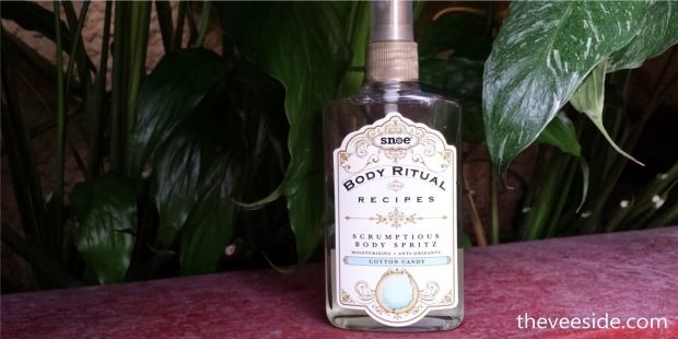 Snoe Scrumptious Body Spritz in Cotton Candy review